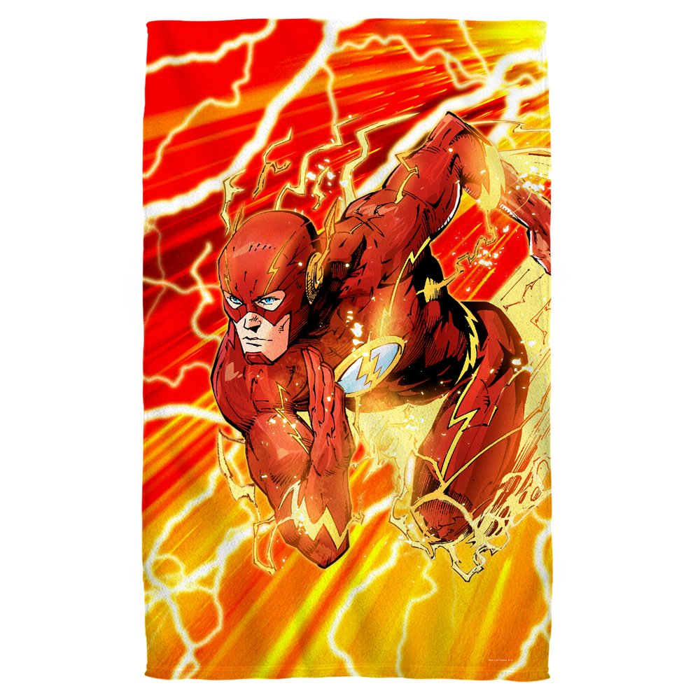 Lightning Dash -- The Flash -- Justice League -- Beach Towel (36'' x 58'')