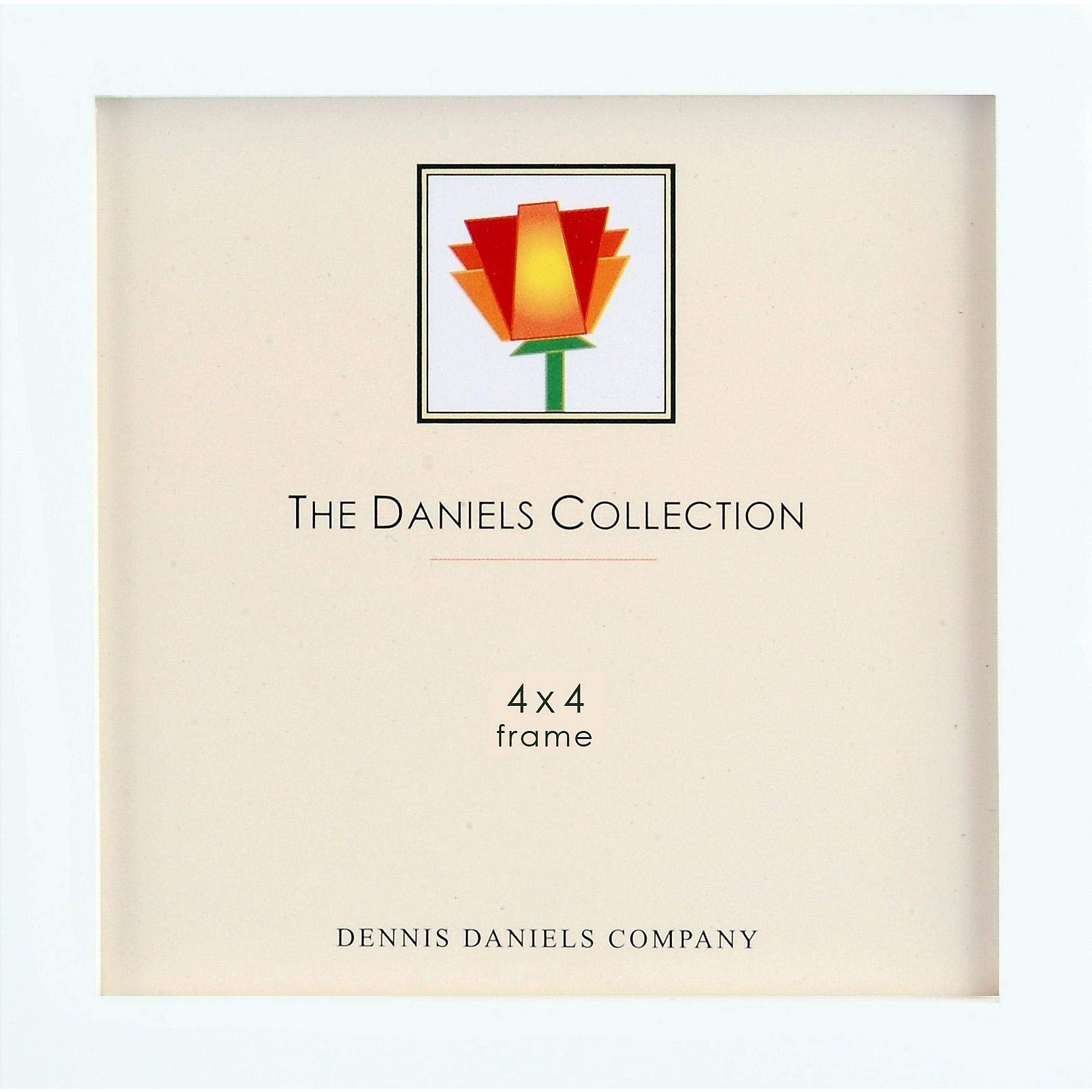 The Original Daniels W41 Square Corner Gallery Woods Bright White Finish Square 4x4 Frame by Dennis Daniels - 4x4