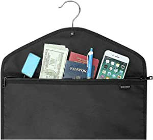 Hanger Diversion Safe Bag,Button Design Fit for Every Hanger,Fireproof Waterproof Double Zipper Keep Secret in Safe for Home,Travel (1 Pack)