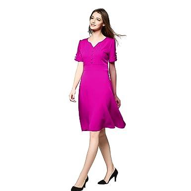 ea03af1fb5a7 Womens Vintage Short Sleeve V Neck A line Formal Cocktail Evening Dress at Amazon  Womens Clothing