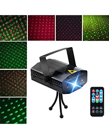 LED Projector Laser Lights, Blingco Mini Auto Flash RG Led Stage Lights Sound Activated for