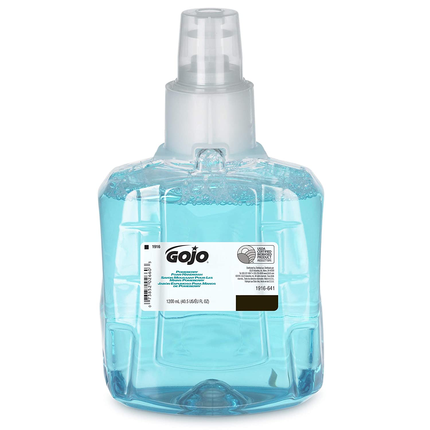 GOJO LTX-12 Pomeberry Foam Handwash, Pomeberry Fragrance, 1200 mL Handsoap Refill for GOJO LTX-12 Touch-Free Dispenser – 1916-06-EC
