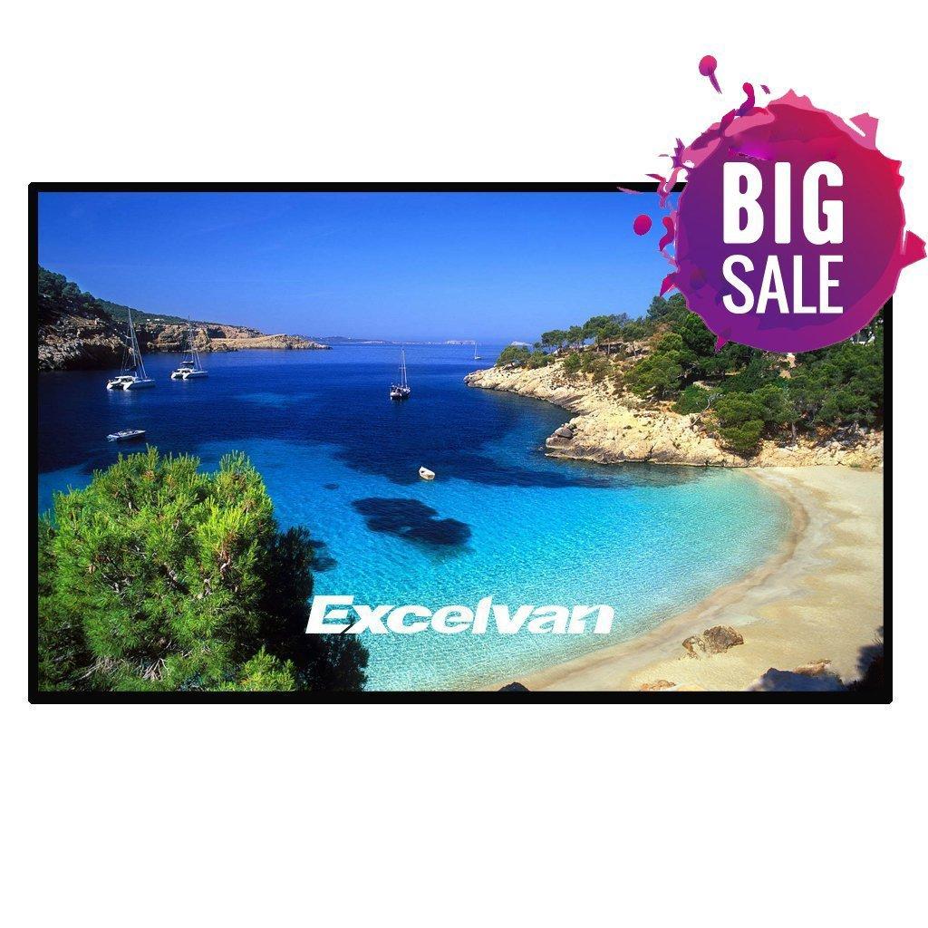 Excelvan Indoor Outdoor Portable Movie Screen 120 Inch 16:9 Home Cinema Projector Screen Roll Easily, PVC Fabric