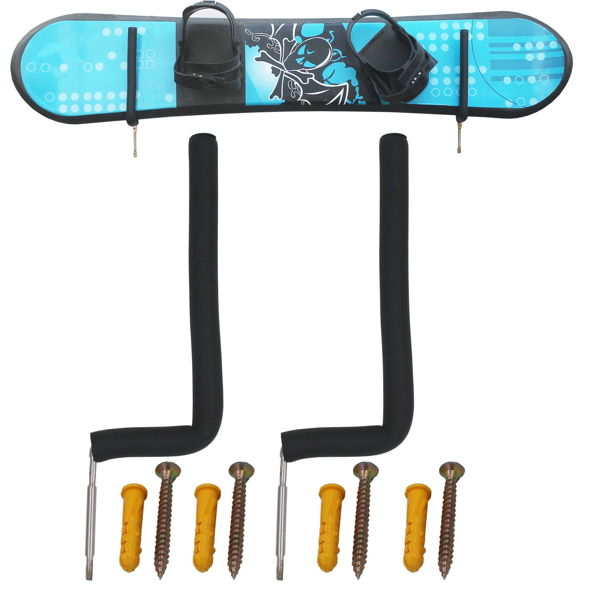 YYST Stainless Steel Snowboard Wall Rack Snowboard Wall Mount Horizontal Display - No Board