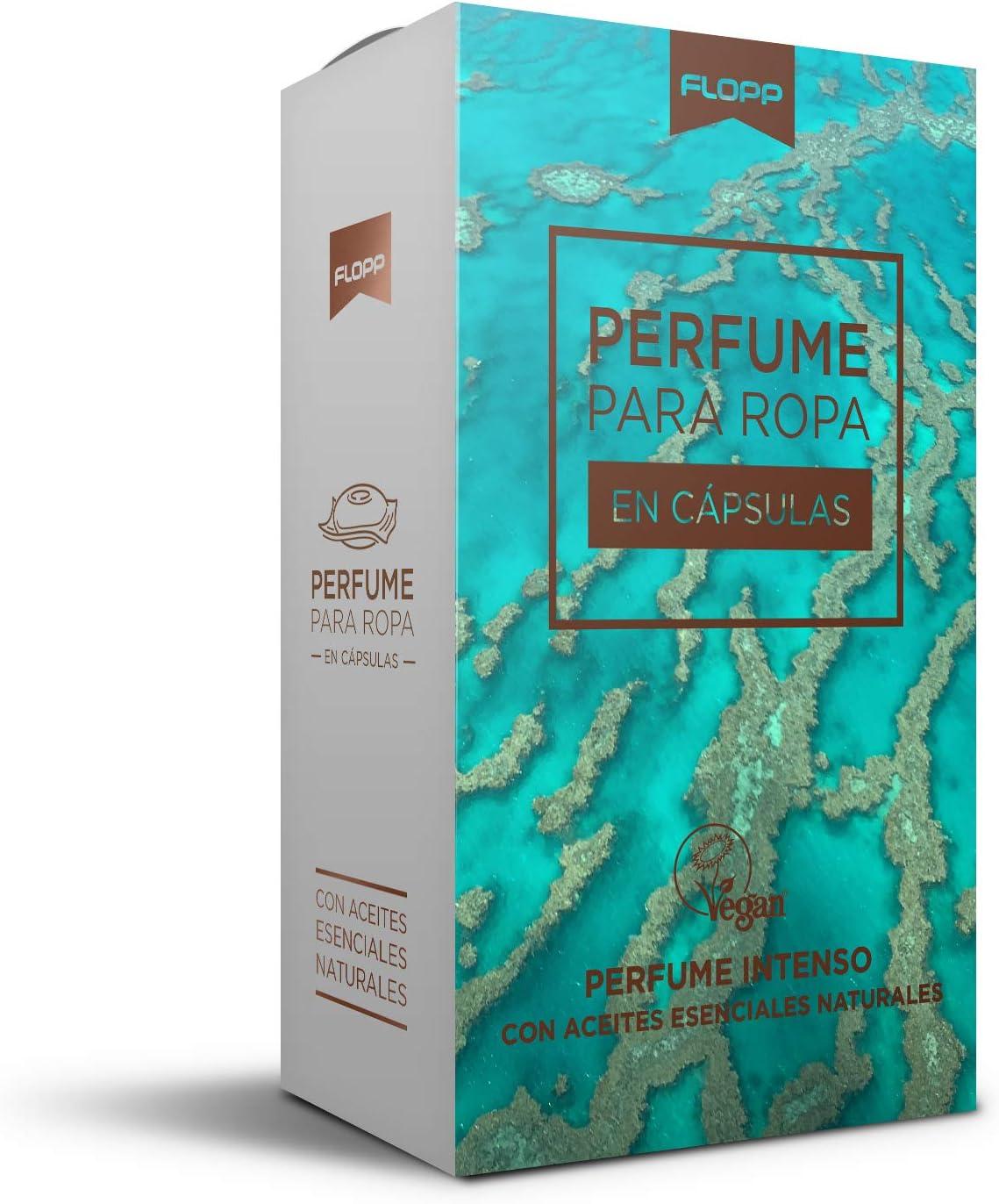 Flopp Perfume para la Ropa con Aceites Esenciales Naturales en Cápsulas. Flopp Eco: Limpia sin Ensuciar el Planeta.