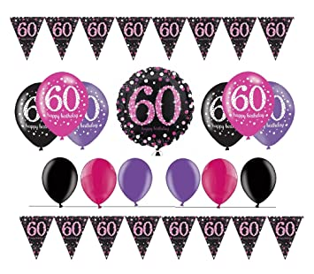 celebran fija para 60 cumpleaños I 14 piezas Globo de aire ...