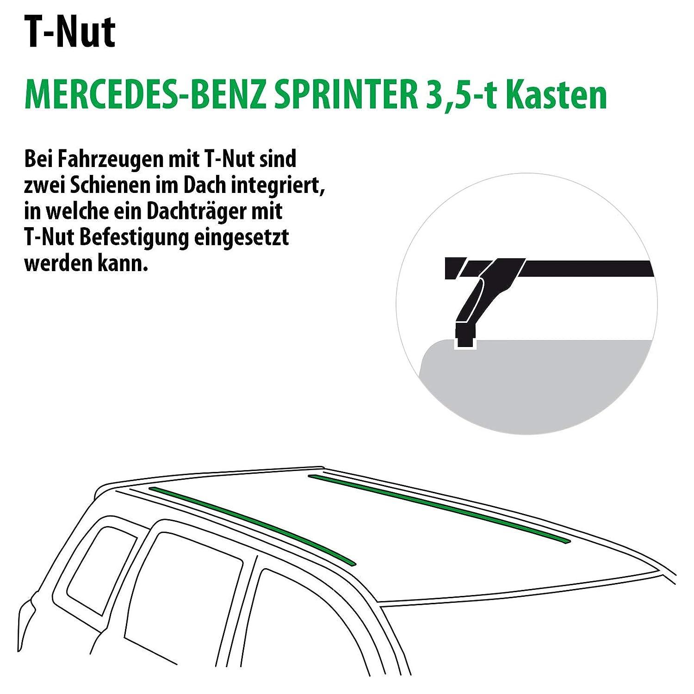 114736-05590-8 Dachtr/äger WingBar EVO f/ür Mercedes-Benz Sprinter 3,5-t Kasten Rameder Komplettsatz