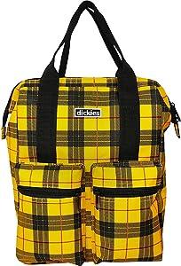 Dickies Hybrid Tote Laptop Backpack (Mustard Tartan Plaid)