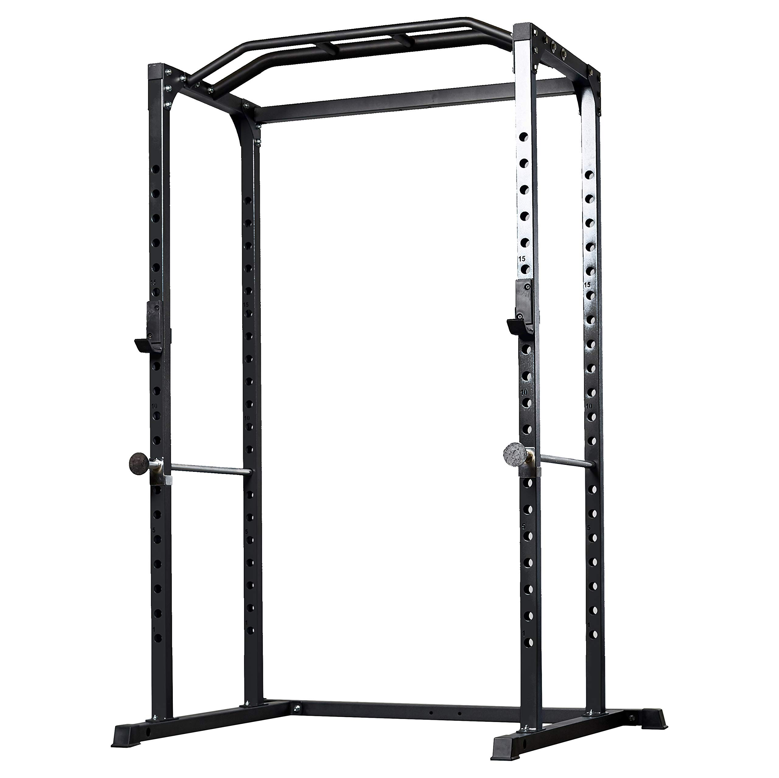 Rep PR-1100 Power Rack - 1,000 lbs Rated Lifting Cage for Weight Training (Metallic Black Power Rack, No Bench) by Rep Fitness (Image #1)