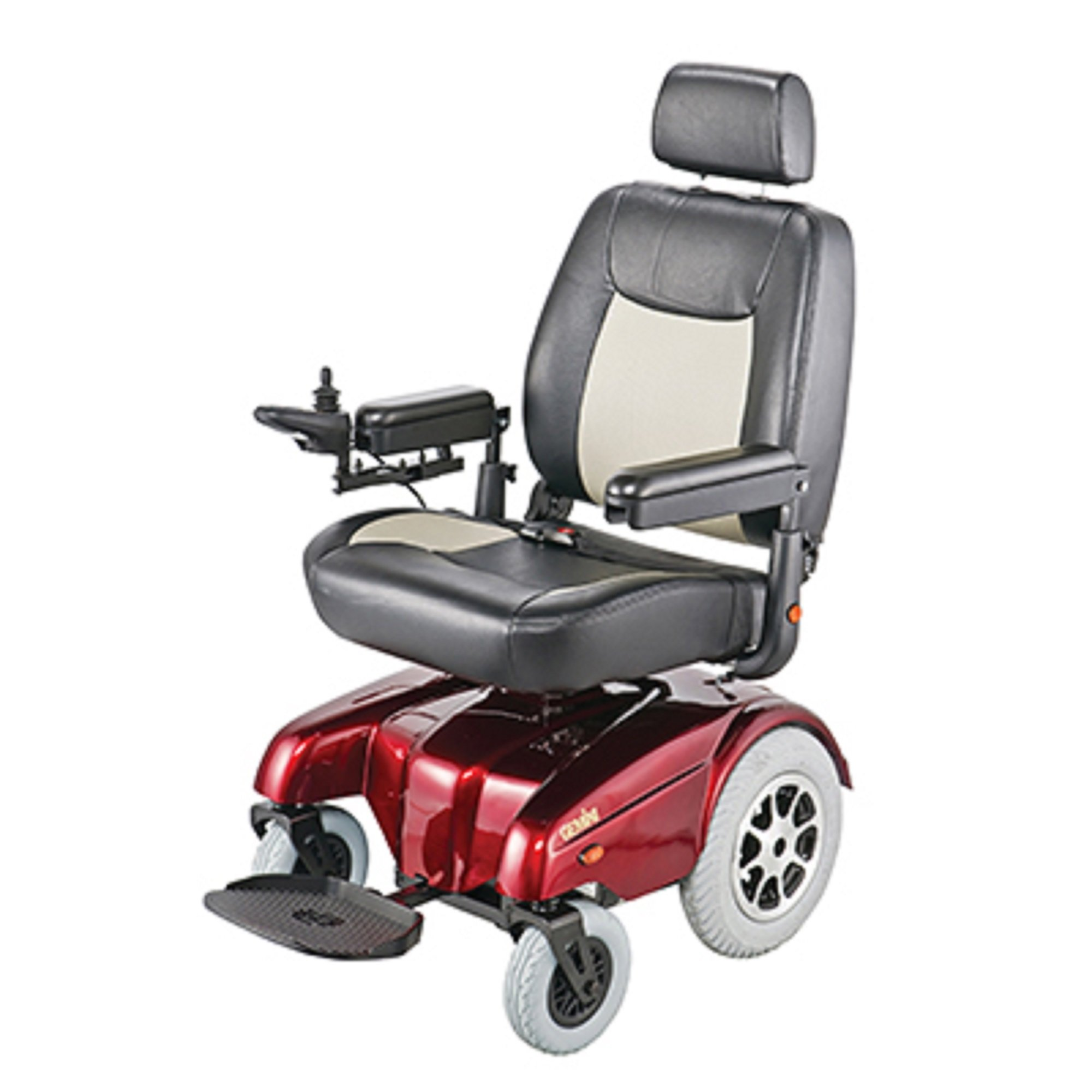 Merits Health Products - Gemini - Heavy Duty Rear Wheel Drive Power Chair - 22''W x 20''D - Red