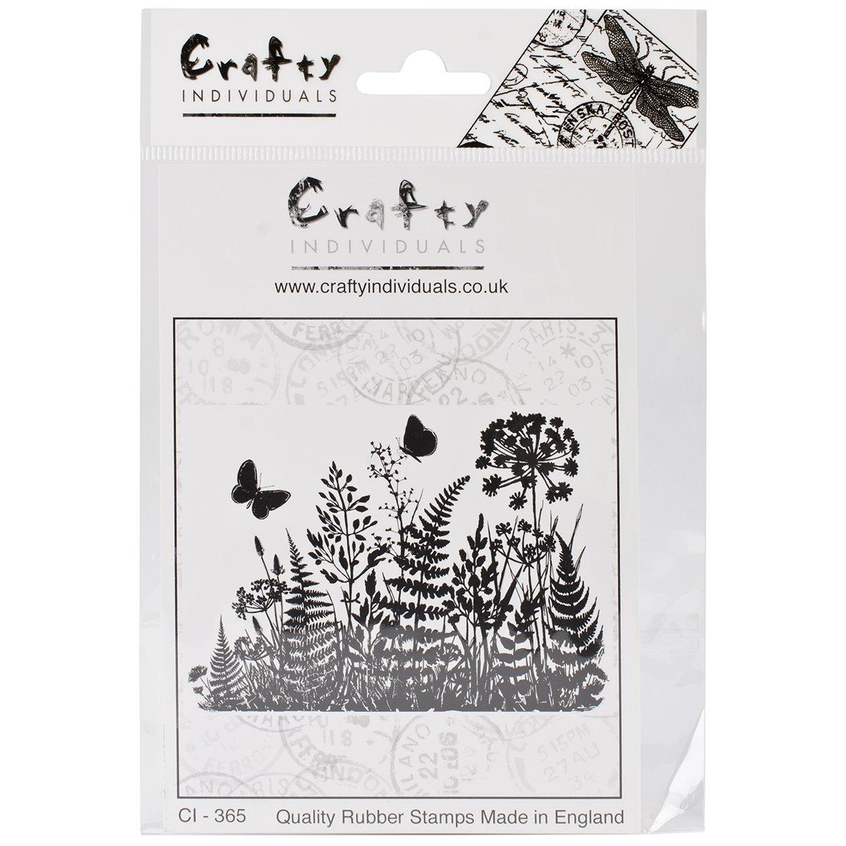 Winter Garden Crafty Individuals Unmounted Rubber Stamp 4.75 x 7