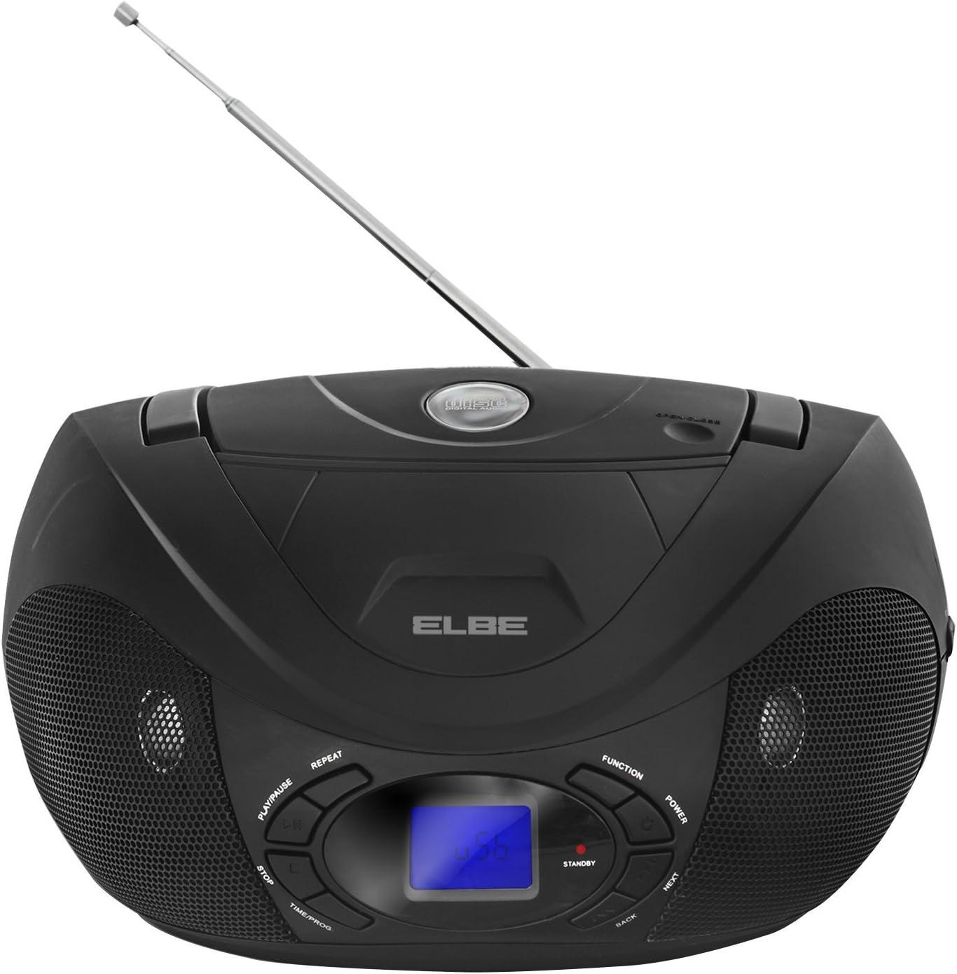 Elbe GPM-237-USB - Radio CD, 2 x 1.5 W, Pantalla LCD, MP3, Lector ...