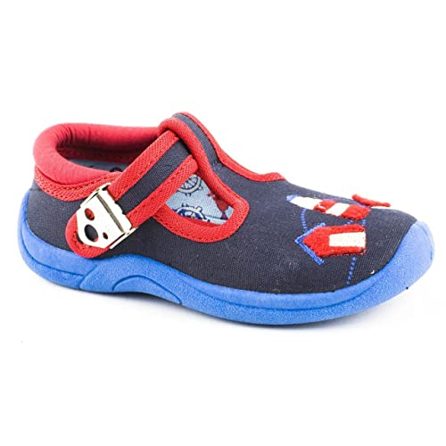 Start-rite - Mocasines de tela para niño azul azul, color azul, talla 5 UK: Amazon.es: Zapatos y complementos