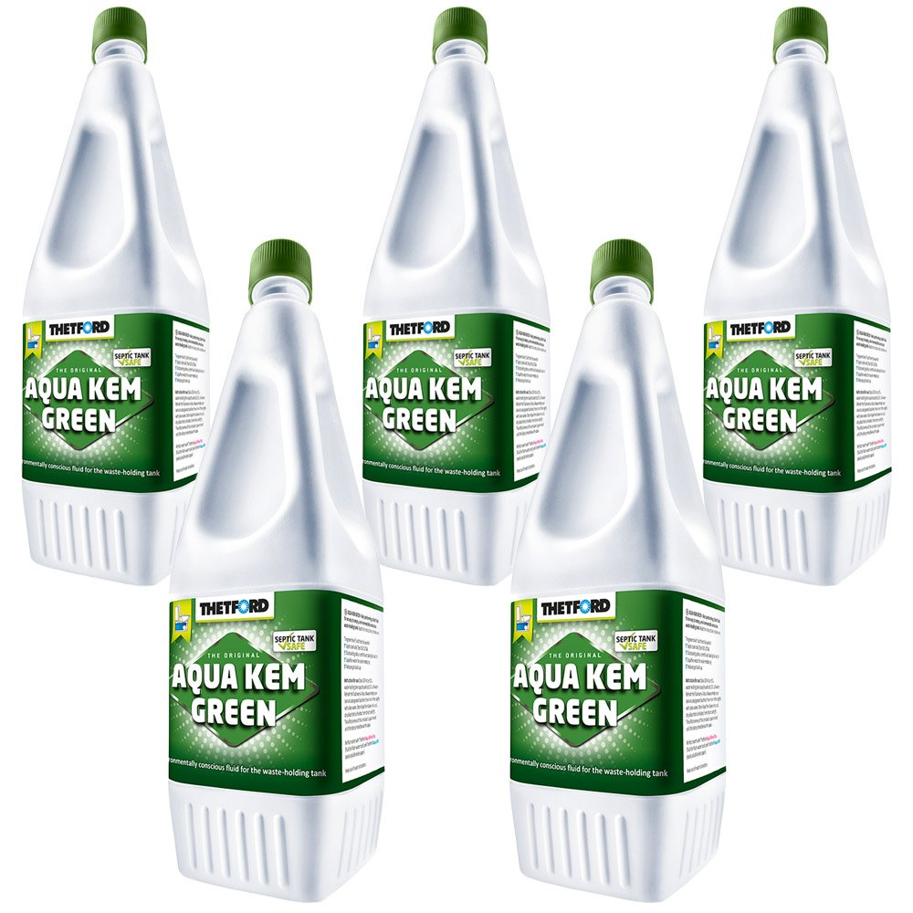 5x Sanitärflüssigkeit 1,5 L Aqua Kem Grün Thetford