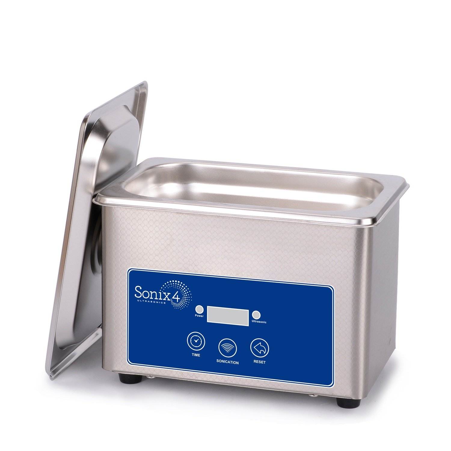 Sonix 4 Ultrasonics - Small, but Powerful All Stainless Steel ultrasonic Cleaner for Personal use, Jewelers, Tattoo Artists, Beauty and Nail Salons and More (SS192 -[1 Pint (.8 Liters)]) by Sonix IV Corporation (Image #1)