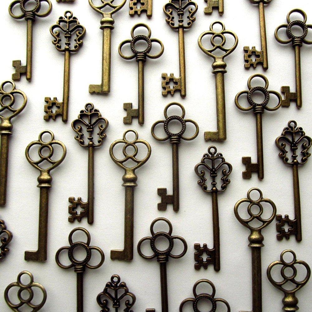 Details About Mixed Set Of 30 Vintage Skeleton Keys In Antique Bronze Set Of 30 Keys Free Ship
