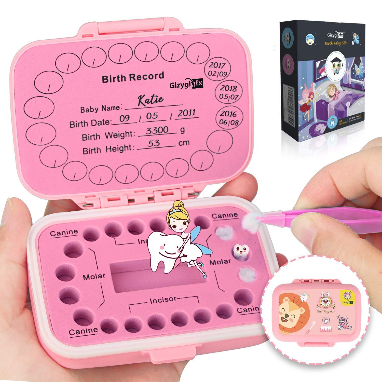 Jannyshop Caja para Dientes de Beb/é Guardar Organizador Caja para Recuerdos Caja de Colecci/ón de Madera Forma de TV