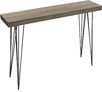 Versa 20361009 Mesa entrada madera color roble Dallas, 110x80x25 ...