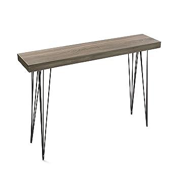 Versa - Table d entrée couleur chêne DALLAS  Amazon.fr  Cuisine   Maison 61c35288fb22