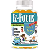 Kids Brain Focus Chewable Gummies Supplements, Attention & Memory Help Formula for Childrens and Teens, Best Great Taste…