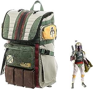 Boba Fett Mando Travel Backpack Rucksack Schoolbag Cosplay Halloween