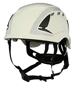 3M SecureFit Safety Helmet/Hard Hat, Climbing Style, Construction, Manufacturing, Forestry, Utilities, Work at Height, X5001VX-ANSI, Vented, Scotchlite Reflective, White