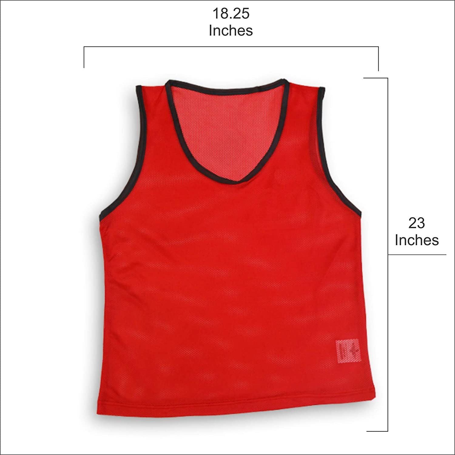 Exxact Youth Scrimmage Training Vests or Pinnies Multiple Colors for Multi Sports Sports