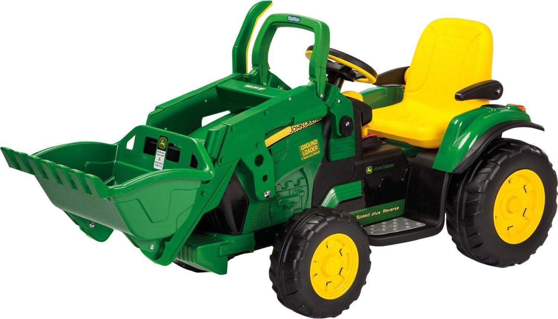 Peg Perego John Deere Loader OR0068 - Tractor con Pala, Color Verde y Amarillo