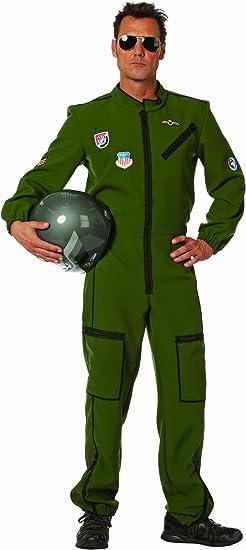 Stekarneval - Disfraz de piloto de jet para hombre, talla UK 42 ...