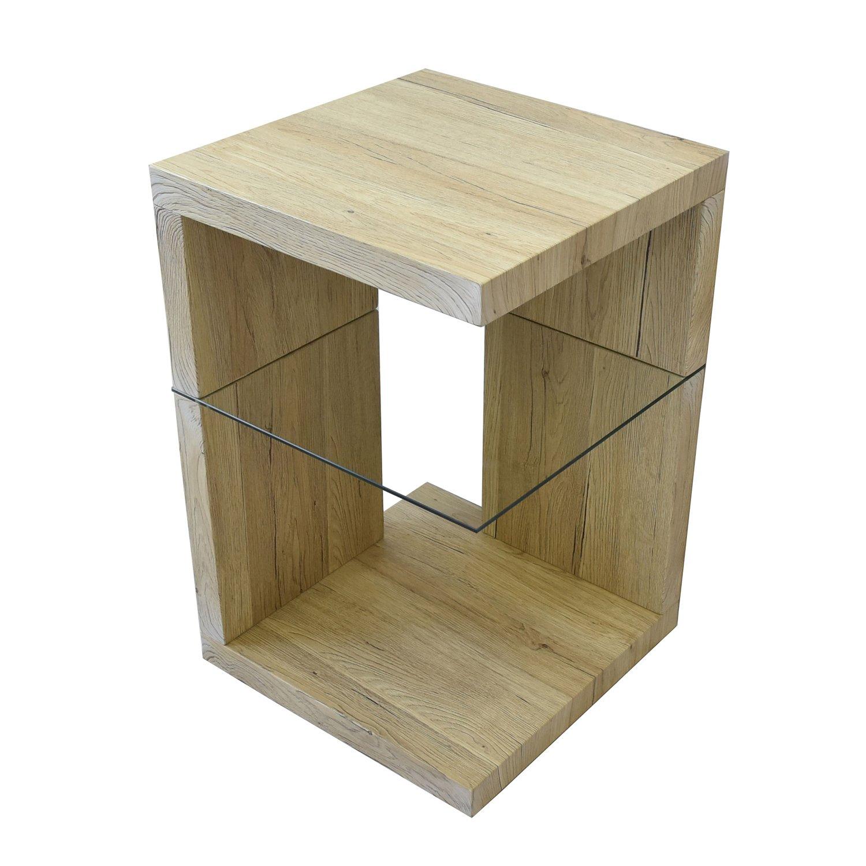BBファニシング SAND サイドテーブル ホワイト 幅39.6×奥行39.6×高さ60.5cm SNST-39WH SNST-39WH B076PJTF3X  ホワイト