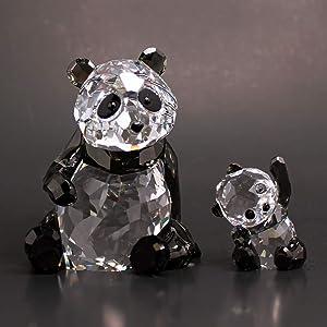 SWAROVSKI Figurine #5063690, Mother Panda with Baby