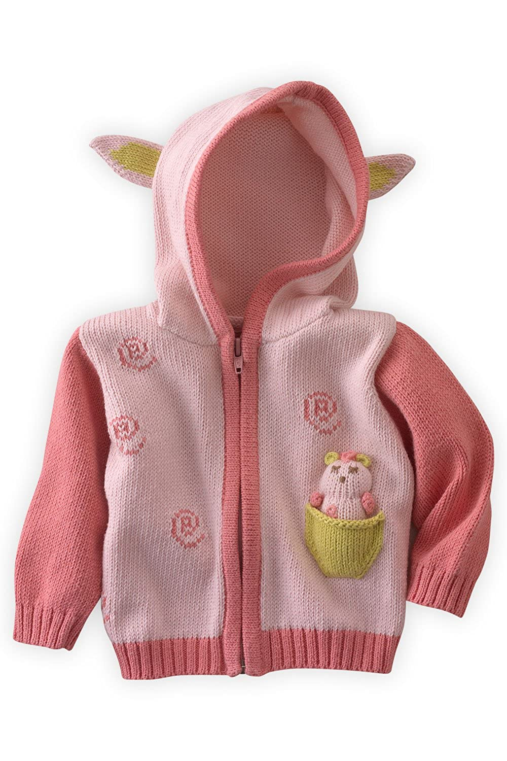 Cutie The Lamb Joobles Fair Trade Organic Baby Cardigan Sweater