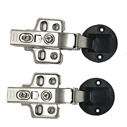 2 Pcs Qrity 35mm Mute Hydraulic Soft Close Hinge For Glass Door Of