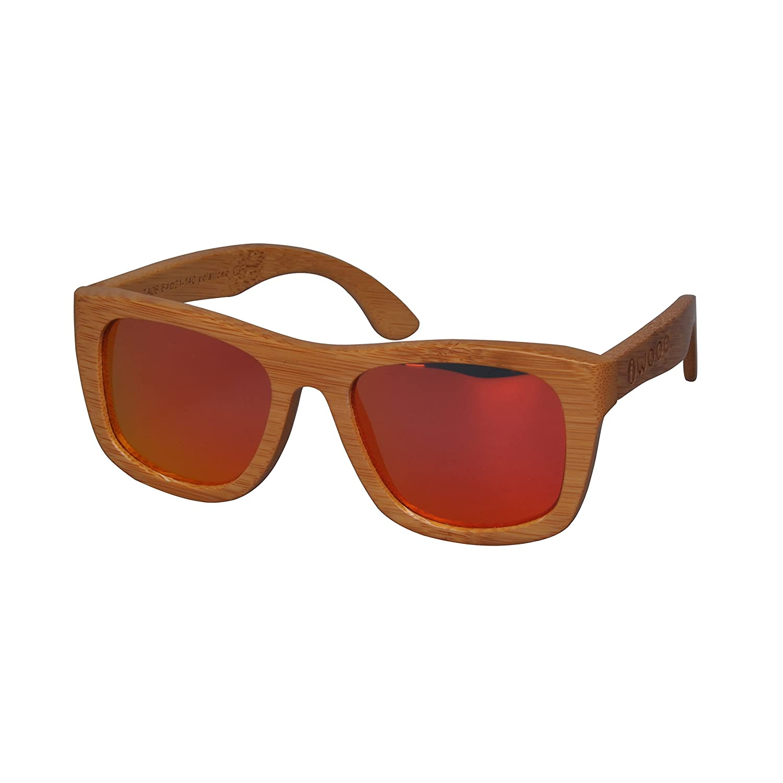 Iwood Fashion Carbon Bamboo Frames Polarized Lens Wood Sunglasses Red Lens