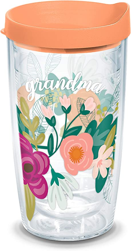 Tervis Mint Grandma Floral Insulated Tumbler With Wrap And Or9 Lid 16oz Clear Tumblers Water Glasses