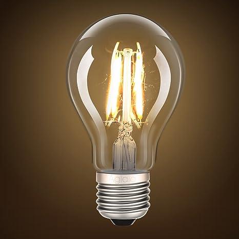 Aglaia Bombillas LED E27 4 W filamento 40 W bombillas incandescentes de repuesto, 2 unidades