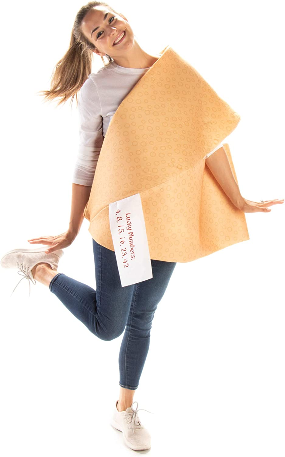 Fortune Cookie Halloween Costume - Funny Unisex One-Size Adult Fast Food Outfit