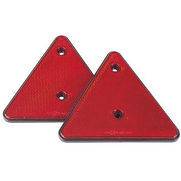 1 Paar Dreieckrückstrahler Dreieck Rückstrahler rot