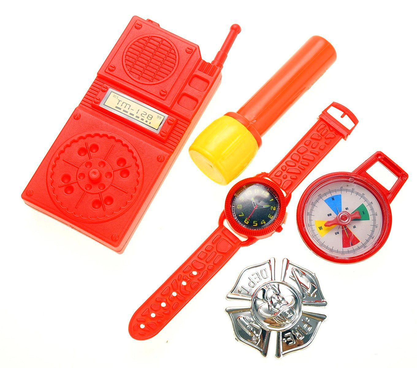 Liberty Imports 10 Pcs Fireman Gear Firefighter Costume Role Play Toy Set for Kids with Helmet and Accessories 5022