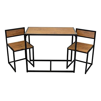 Harbour Housewares 2 Person Space Saving Compact Kitchen Dining Table Chairs Set Amazoncouk Home
