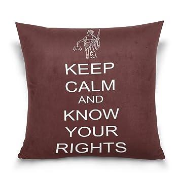 Amazon.com: wdysecret Keep Calm And Saber sus derechos, para ...