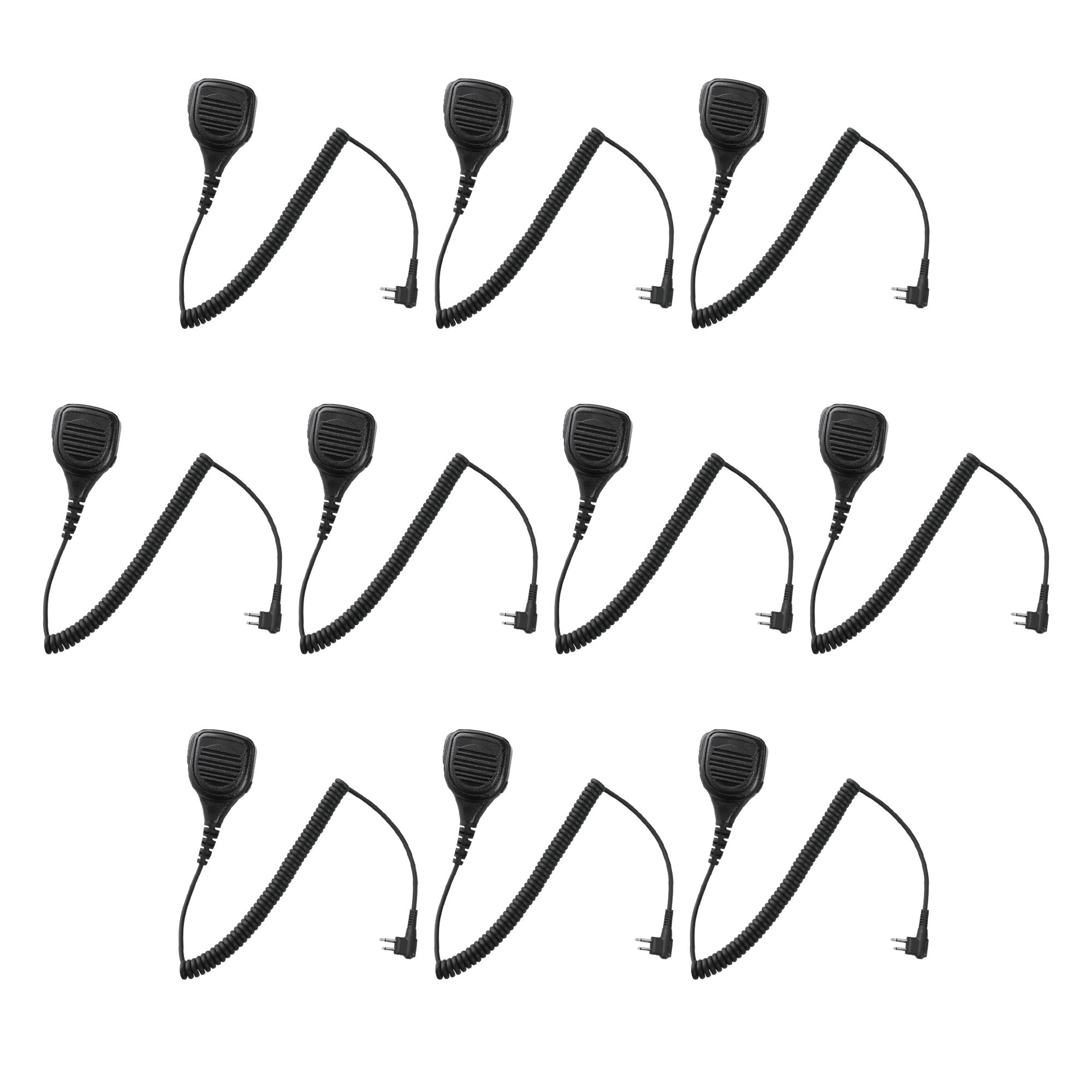 10 Pack Maxtop APM250-H1 IP56 Waterproof Shoulder Speaker Microphone for Hytera TC-446S TC-500 TC-518 TC-600 by MAXTOP