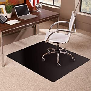 Office Chair Mat for Carpets, Clear Multi-Purpose Floor Protector Transparent Thick Sturdy Highly Premium Quality Floor Mats for Low Medium Pile Carpets Office -1.5mm-100x100cm(39x39inch)