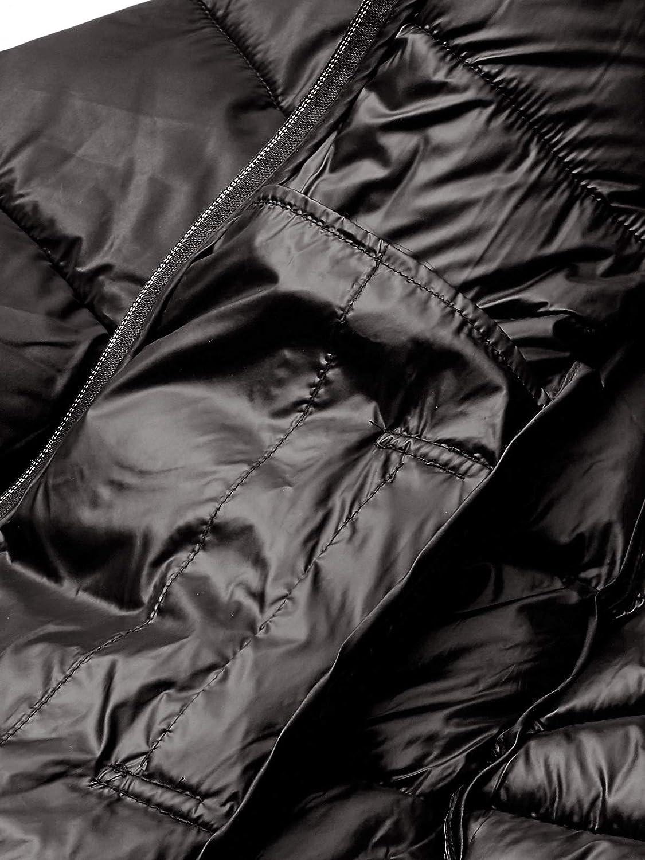 Cole Haan Womens Sateen Faux Down Maxi Coat