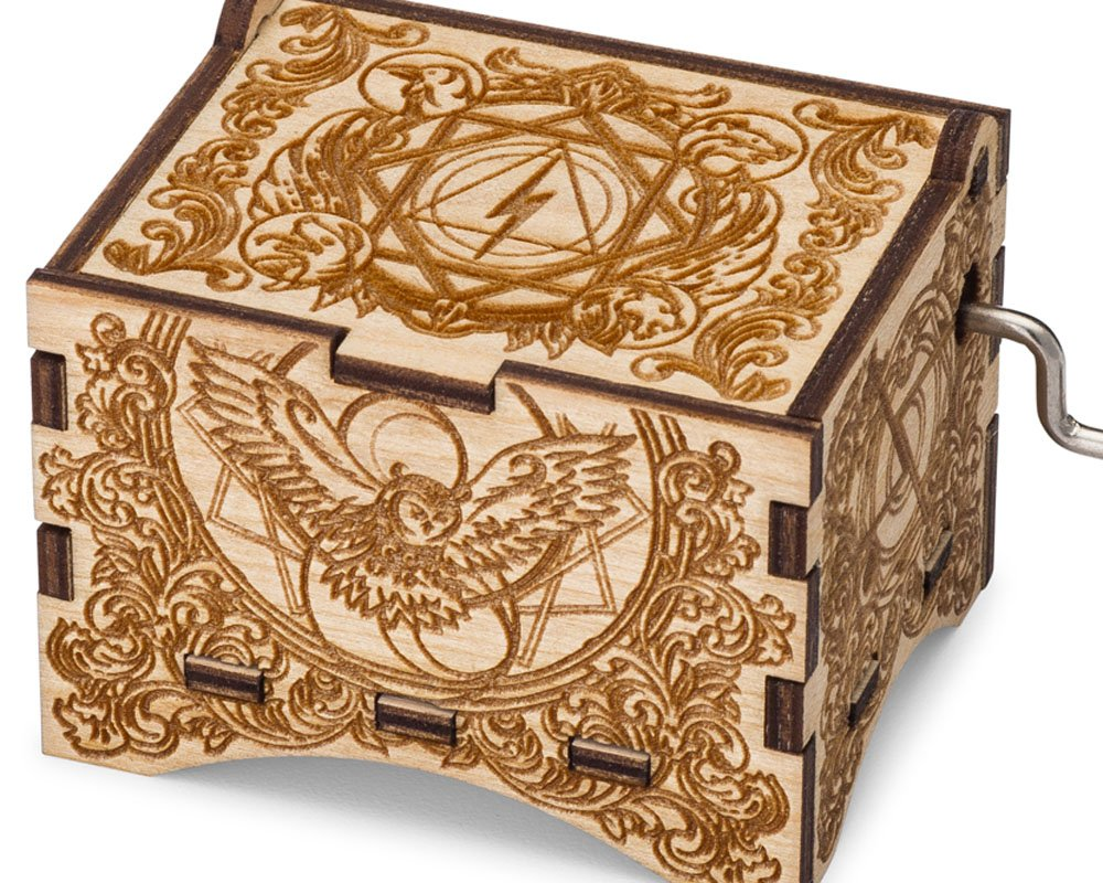 TheLaser'sEdge, Hedwig's Theme, Personalizable Music Box, Laser Engraved Birch Wood (Artistic Standard)