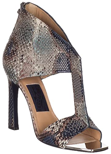 46d7a84d0a6 Salvatore Ferragamo Women s Pekaya Snakeskin Leather Embellished T-Strap  Sandals Shoes