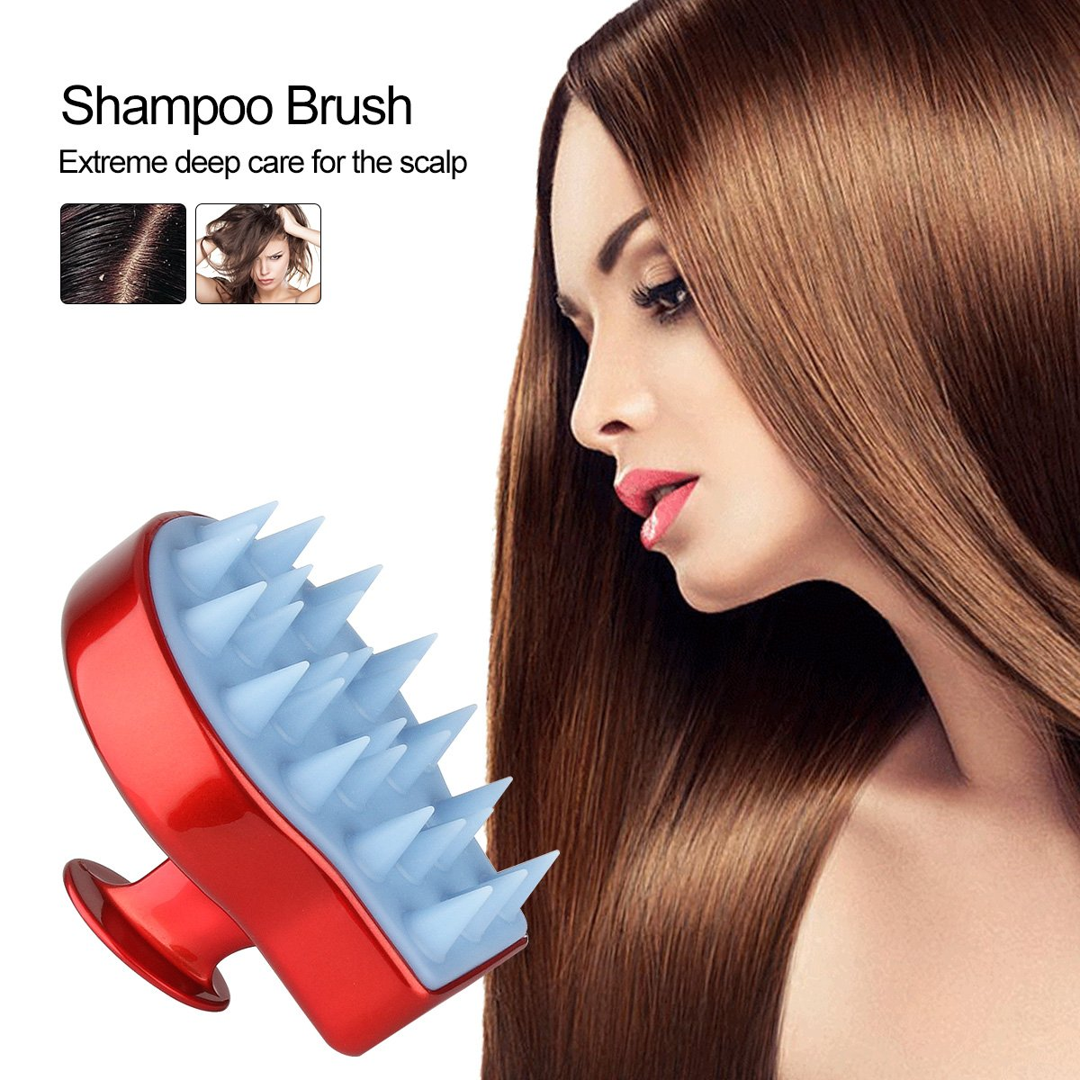 Shampoo Scalp Massage Brush Head Massager Shower Body Massaging Electrical Wall Outlet Wiring Newhairstylesformen2014com Cleaning Hair Comb For Men Women Kids Health Personal Care
