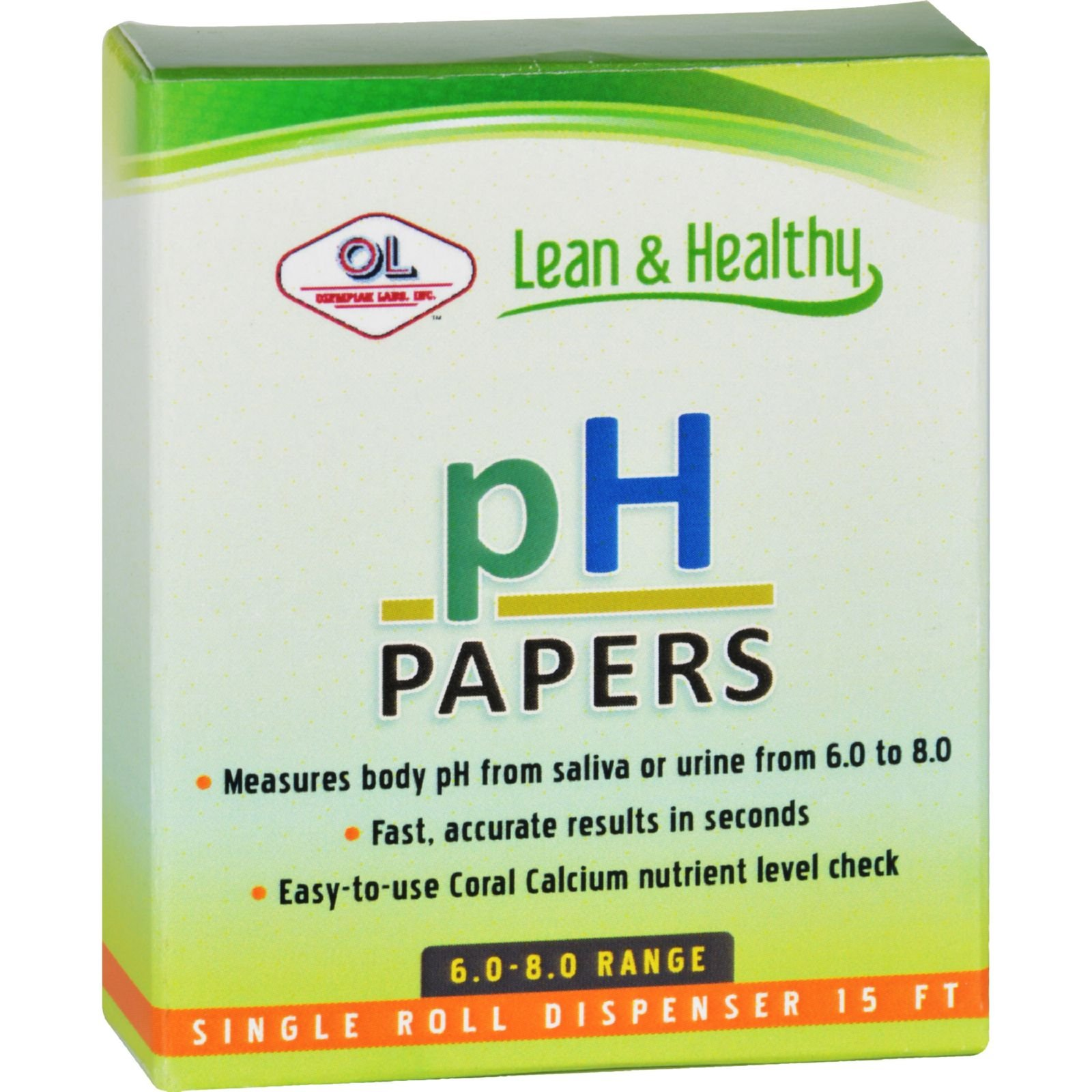 Olympian Labs pH Papers - 6.0-8.0 Range - 15 ft by Olympian Labs