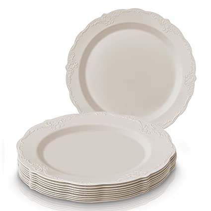 PARTY DISPOSABLE 20 PC DINNERWARE SET | 20 Dinner Plates | Heavy Duty Disposable Plastic Dishes  sc 1 st  Amazon.com & Amazon.com | PARTY DISPOSABLE 20 PC DINNERWARE SET | 20 Dinner ...