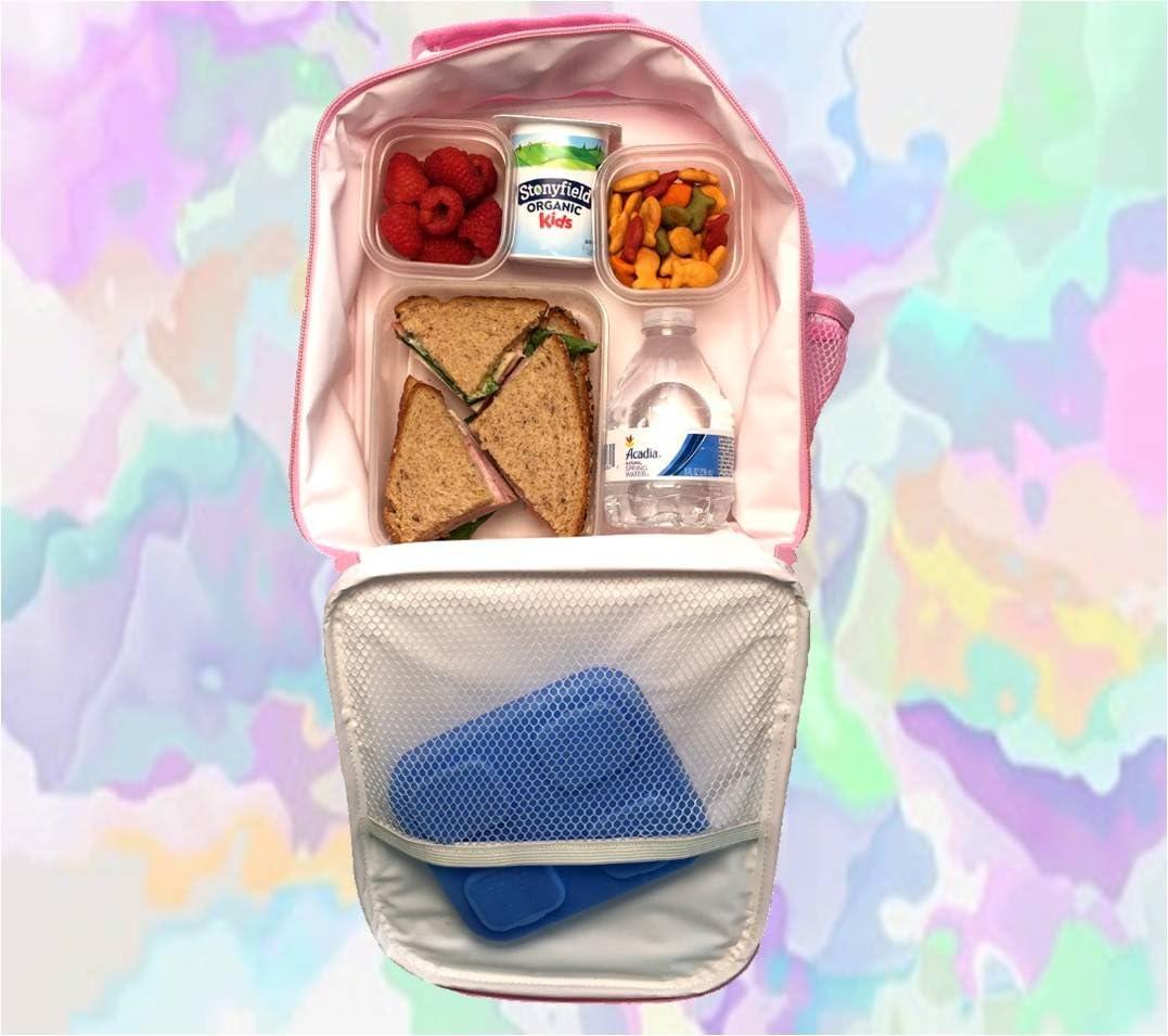UNICORN RAINBOW School Children rose Lunch Box avec 3 compartiments BPA Free